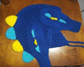 Dino hat &mittens