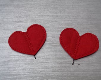 Bobby Pin Heart Valentine Red  Hair Clips - Animal  - Children - Hair Accessory - Barrette - Hair Band - Hair Grip - Fascinator -