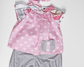 3 pieces set 18/24 months pink and gray.