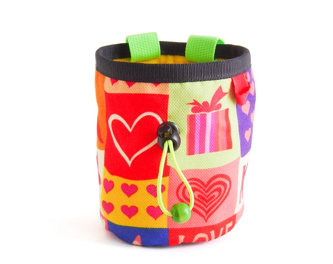 Gift for Climbers. Chalk bag. Rock Climbing Gifts, Climbing Chalk Bag - M Size. Funky and Cooll Chalkbag for Girl and Boyfriend