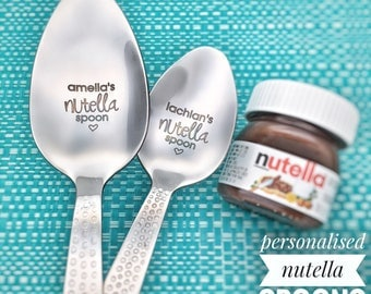 Nutella lover gift etsy nutella spoon nutella personalized spoon personalised nutella chocolate gift nutella lover easter gifts easter easter basket negle Gallery