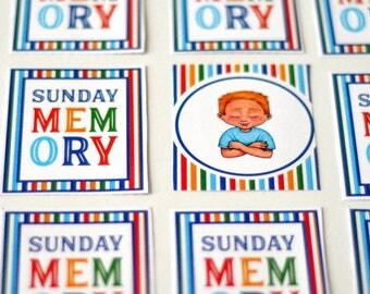 Sunday Memory Printable Game