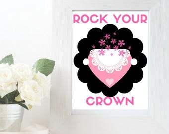 Rock Your Crown Lace Wall Art