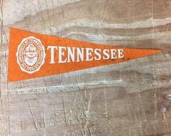 1950's Vintage Tennessee volunteers vols College University Mini Pennant Flag Banner