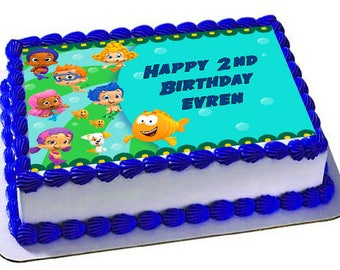 Bubble Guppies Cake Topper Edible,Frosting Sheet,Cake Topper,Custom Cake Topper
