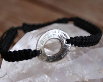 shamballa bracelet with metal bead