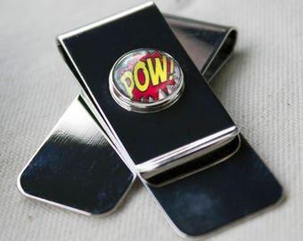 Pow! comic font Money Clip