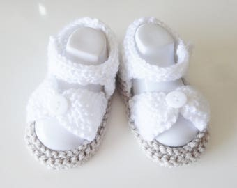 Sandals baby from 3/4 months for baptism or wedding