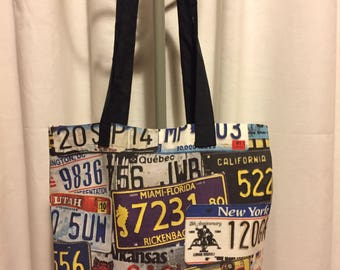 Car License Plates Tote