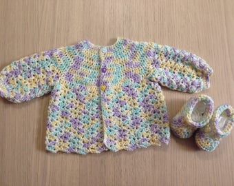 Cardigan and matching booties