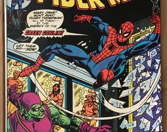 Vintage Amazing Spider-Man - Marvel Comic Book - Issue 137 - Green Goblin - Mary Jane - Aunt May - Bronze Age (1974)
