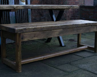 Handmade Reclaimed Wood Bench