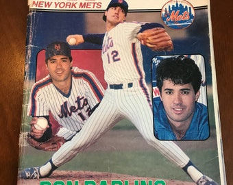 1985 Mets Official Score Book Magazine . Ron darling . New York mets score book