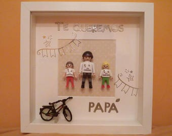 Souvenir box-Personalized gift-picture Playmobil-Playmobil frame-customizable frame-remembrance