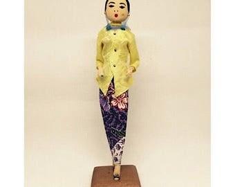 1950's Vintage Handmade Malay Costume Doll