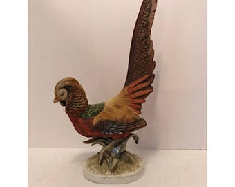 Vintage Lefton China Golden Pheasant Figurine
