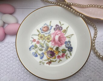 Pretty Floral 'Bournemouth' Vintage Royal Worcester Pin Dish, Trinket Dish,  Butter Dish