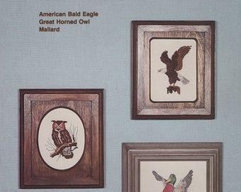 Wildlife Sampler II, Country Cross Stitch Pattern Booklet 2 Bald Eagle Owl Mallard OOP