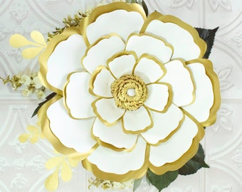 Giant paper rose flower templates large flower patterns large paper flowers giant paper flower patterns tutorials diy flower templates printable pronofoot35fo Choice Image