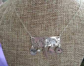 Flower Buds Charm Necklace