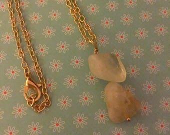 citrine nuggets necklace.