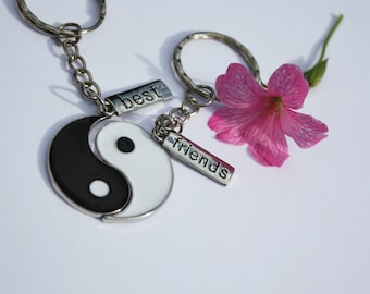 Yin and Yang Best Friend Keyrings 2PC