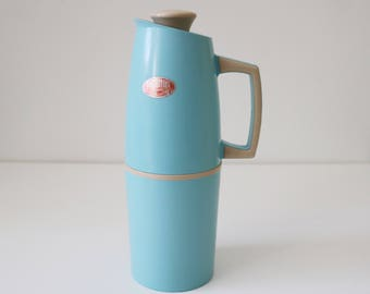 1950s 60s Blue and cream Thermos jug flask model 58
