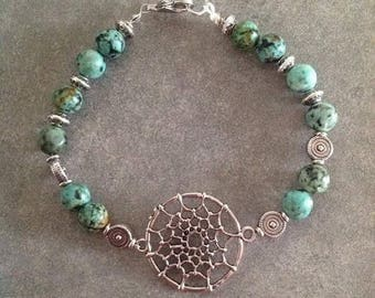 Please energized DREAMCATCHER please African turquoise Bracelet