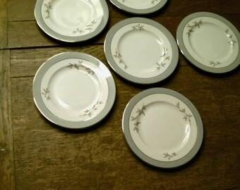 "Syracuse China, Harmony, Set of 6 Dinner Plates  10- 1/4""  Made In America, Mid Century"