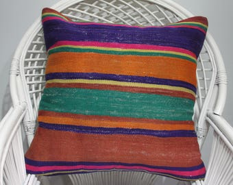 Kilim Pillow Covers 24 X 24 Kilim Pillow 24x24 Red And Green 60x60  Cushionkilim 24x24 Pillow