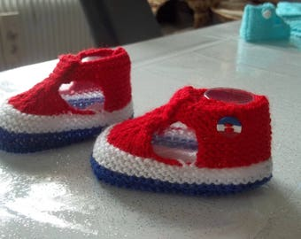 cocorico special patriotic baby booties 0-3 months