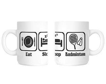 Badminton player gift mug