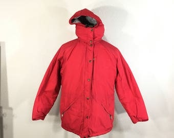 80's vintage L.L.BEAN hooded down jacket made in usa