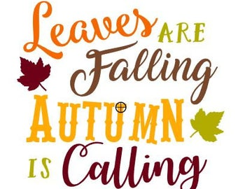 Leaves are Falling SVG File