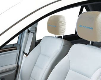 Hyundai Car/SUV White Headrest Covers