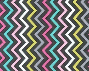 MICHAEL MILLER fabric CX6220-PINK-D: Mini chic chevron / Cut 50x55 cm