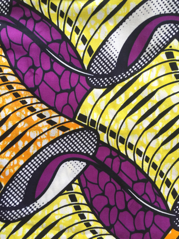 Purple African Print Fabric African Fabricpurple African