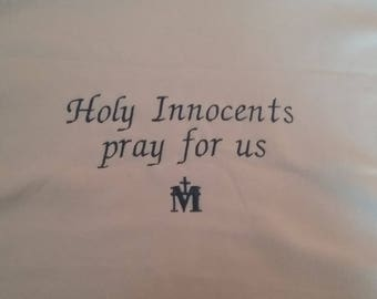 Holy Innocents and Virgin Mary baby blanket