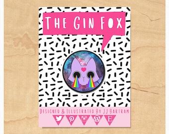 Cosmic Cat Badge • Cat Badge • Funny Cat Gift • Cosmic Space Cat  • 32mm Badge • Flair • Pin badge