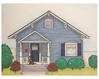 Custom Illustrated Rendering of Home