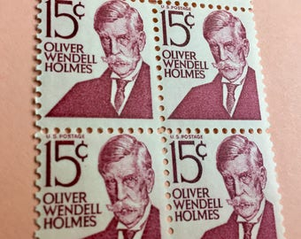 Unused Vintage Postage Stamp Set of 52 - US Stamps at 15 Cents each - Oliver Wendell Holmes - Great to be used with other vintage stamps