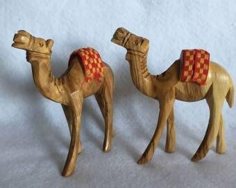 Vintage Wooden Camels