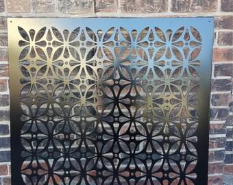 Privacy Screen Metal Garden Decor Art - HiddenFlower1