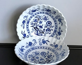 Set of 2 J&G Meakin Blue Nordic Coupe Cereal Bowls