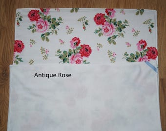 Handmade cot bed baby girl Cath Kidston Ikea Rosali fabric, antique rose