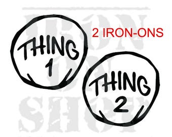 Thing 1 - Thing 2 Large Iron-On Transfers