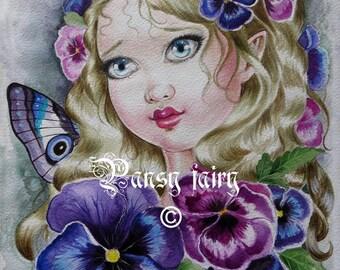 Big eyed Pansy fairy