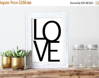 SALE Love Printable Wedding Decor Romantic Poster Love Art Poster Love Poster Graphic Poster Valentines Day Minimalistic Poster Teen Room Pr