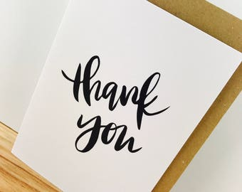 Thank You Card (Kraft or White)