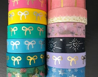 """24"""" SAMPLES of Simply Gilded foil washi tape (M200)"""